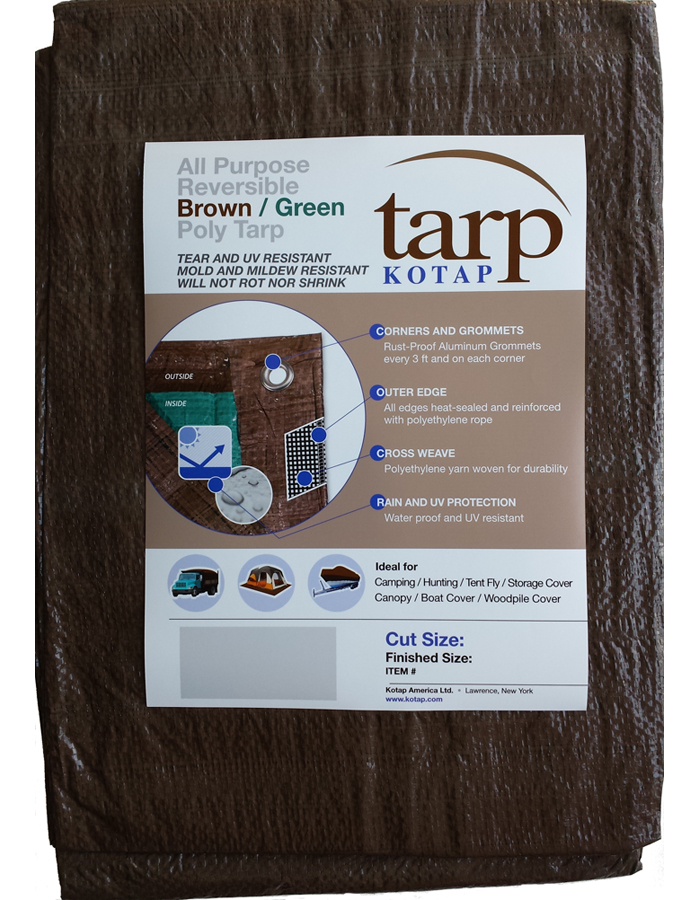 Kotap Lightweight All Purpose Brown-Green Tarps