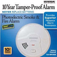 MP316SB -       10 Year Battery Powered Photoelectric Smart Smoke/Fire Alarm