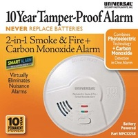 MPC322SB -      10 Year 2-in-1 Battery Powered Photoelectric Smart Smoke/Fire + Carbon Monoxide Alarm