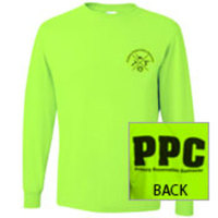 TSHIRT-LONGSLEEVE -    Safety Green PPC T-Shirt Long Sleeve