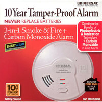 MIC3510SB -        10 Year Battery Powered Combination 3-in-1 Smart Smoke + Fire + Carbon Monoxide Smart Alarm