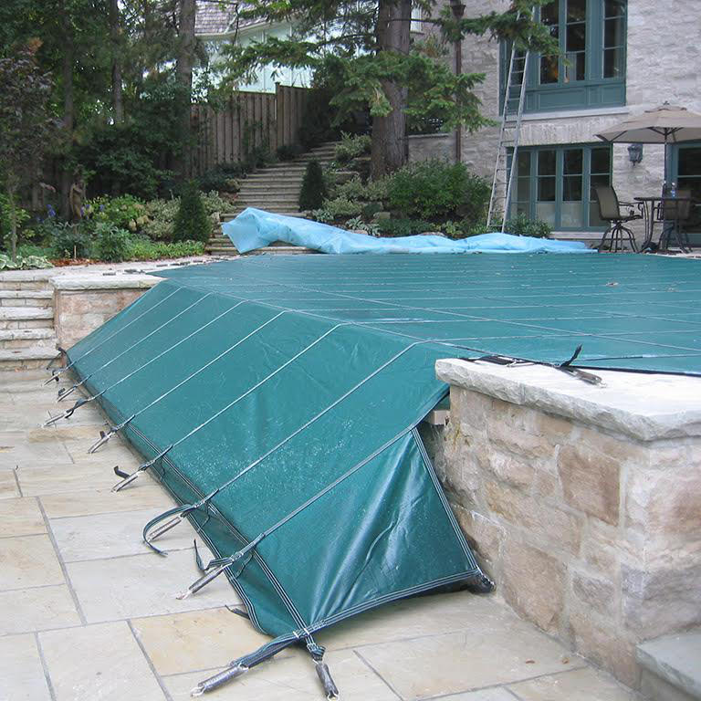 Decorative Pool Covers : Custom shape safety pool covers on sale