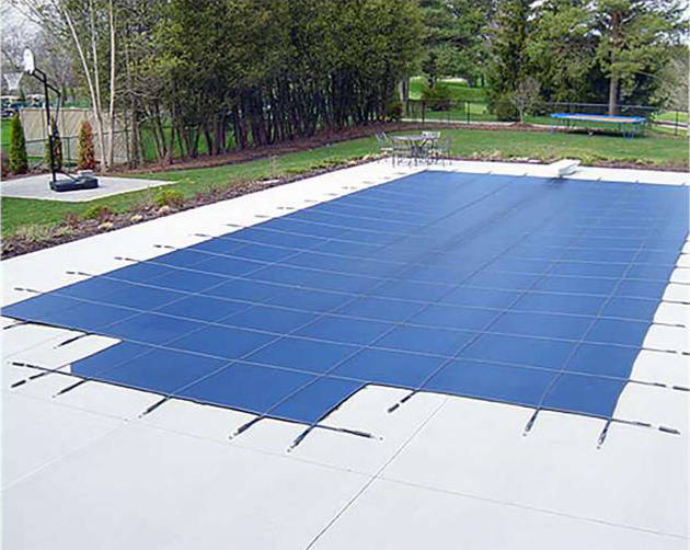 Pool covers in ground safety pool cover for Swimming pool winter cover anchors