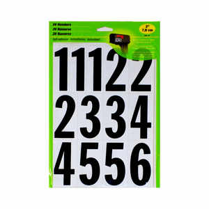 Self Adhesive Numbers 3 in. (26 Number Stickers)