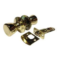PL100 - Polished Brass Finish Passage Door Knob