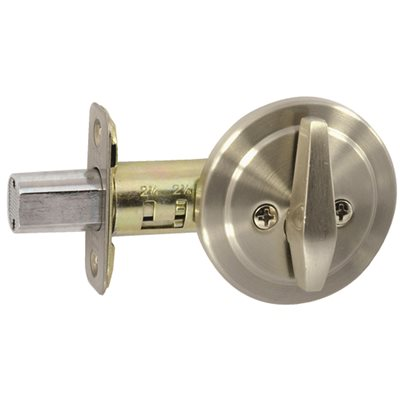 SINGLESIDEB -                   Single-Sided Deadbolt in Satin Nickel