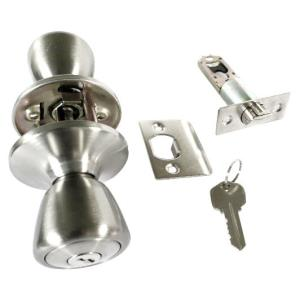 Satin Nickel Door Locks - Master Keyed