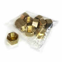 BRASSCAP - Brass Compression Caps (pack of 10)