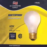 LB100 -                                 US Hardware Supply 60W Light Bulbs