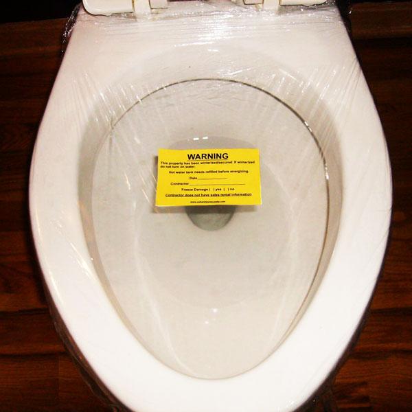 Toilet Wrap for Winterizing your Toilet